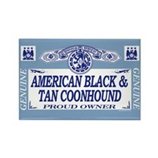 AMERICAN BLACK TAN COONHOUND Rectangle Magnet