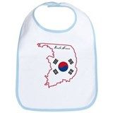 Cool South Korea Bib