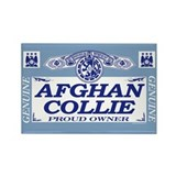 AFGHAN COLLIE Rectangle Magnet (10 pack)