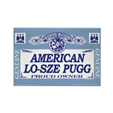 AMERICAN LO-SZE PUGG Rectangle Magnet