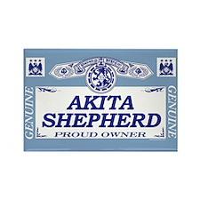 AKITA SHEPHERD Rectangle Magnet (100 pack)