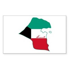 Cool Kuwait Rectangle Decal