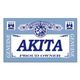 AKITA Rectangle Decal