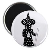 Inexplicably Faceless Wizard Magnet