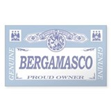 BERGAMASCO Rectangle  Aufkleber