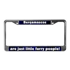 Furry People Bergamasco License Plate Frame