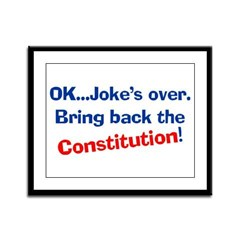 Bring Back The Constitution Framed Panel Print