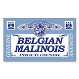 BELGIAN MALINOIS Rectangle Decal