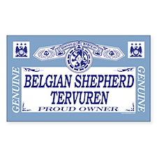 BELGIAN SHEPHERD TERVUREN Rectangle Decal