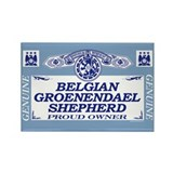 BELGIAN GROENENDAEL SHEPHERD Rectangle Magnet