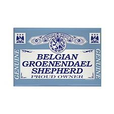 BELGIAN GROENENDAEL SHEPHERD Rectangle Magnet