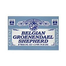 BELGIAN GROENENDAEL SHEPHERD Rectangle Magnet (10