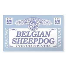BELGIAN SHEEPDOG Rectangle Decal