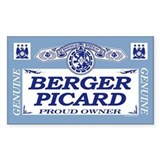 BERGER PICARD Rectangle Bumper Stickers