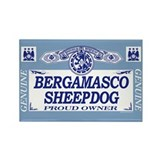 BERGAMASCO SHEEPDOG Rectangle Magnet