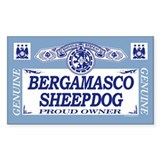 BERGAMASCO SHEEPDOG Rectangle  Aufkleber