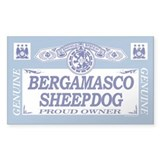 BERGAMASCO SHEEPDOG Rectangle Decal