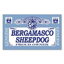 BERGAMASCO SHEEPDOG Rectangle Decal