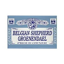 BELGIAN SHEPHERD GROENENDAEL Rectangle Magnet