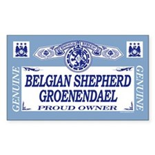 BELGIAN SHEPHERD GROENENDAEL Rectangle Decal
