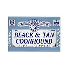 BLACK TAN COONHOUND Rectangle Magnet
