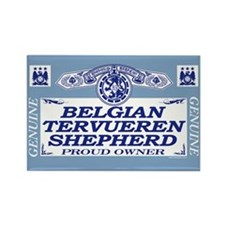 BELGIAN TERVUEREN SHEPHERD Rectangle Magnet (100 p