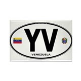 Venezuela Euro Oval Rectangle Magnet