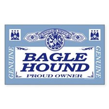BAGLE HOUND Rectangle Decal