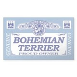 BOHEMIAN TERRIER Rectangle Decal