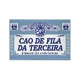 CAO DE FILA DA TERCEIRA Rectangle Magnet (100 pack