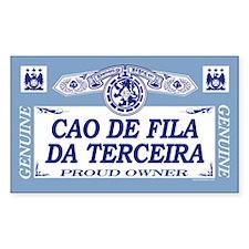 CAO DE FILA DA TERCEIRA Rectangle Decal