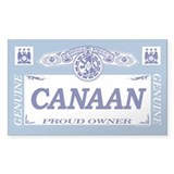 CANAAN Rectangle Bumper Stickers