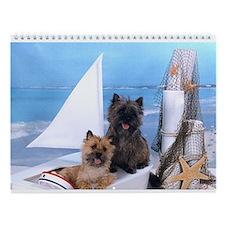 Cairn Terrier Boat Boys Wall Calendar