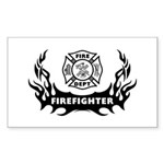 Fire Dept Firefighter Tattoos Sticker (Rectangle)