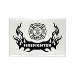Fire Dept Firefighter Tattoos Rectangle Magnet