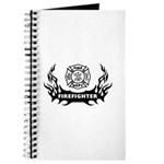 Fire Dept Firefighter Tattoos Journal