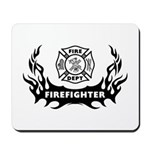 Fire Dept Firefighter Tattoos Mousepad