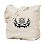 Fire Dept Firefighter Tattoos Tote Bag