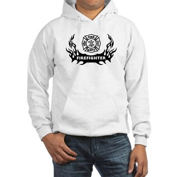 Fire Dept Firefighter Tattoos Hooded Sweatshirts