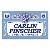 CARLIN PINSCHER Rectangle Decal