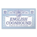ENGLISH COONHOUND Rectangle Decal