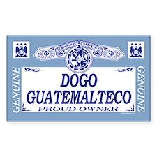 DOGO GUATEMALTECO Rectangle Decal