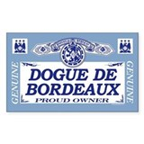 DOGUE DE BORDEAUX Rectangle Decal