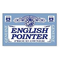 ENGLISH POINTER Rectangle Decal
