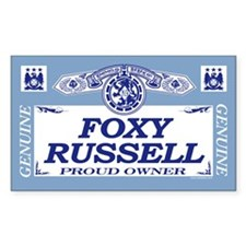 FOXY RUSSELL Rectangle Decal