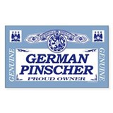 GERMAN PINSCHER Rectangle Decal