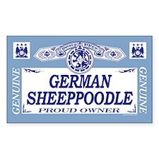 GERMAN SHEEPPOODLE Rectangle Decal