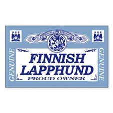 FINNISH LAPPHUND Rectangle Decal