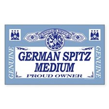 GERMAN SPITZ MEDIUM Rectangle Decal