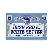IRISH RED WHITE SETTER Rectangle Magnet